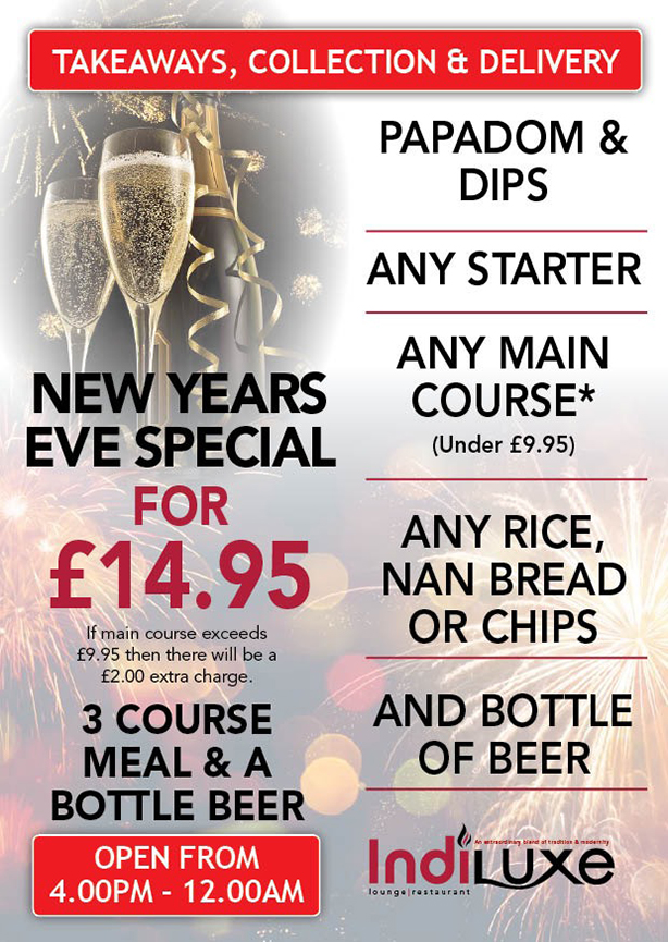 New Years Eve - Takeaway Menu